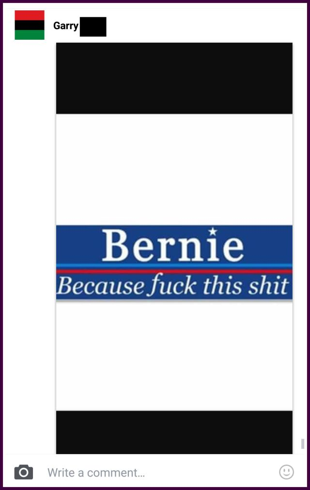 BernieBecause